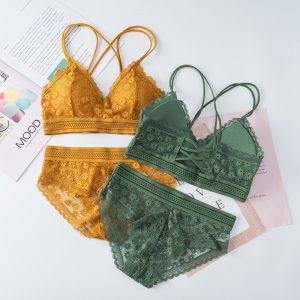 Backless Lace Underwear Set 1